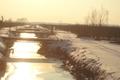 Graben im Winter 2010