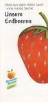 Faltblatt Unsere Erdbeeren
